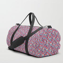 Geometric Labyrinth Red And Blue Duffle Bag