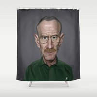 actor Shower Curtains featuring Celebrity Sunday ~ Bryan Cranston by rob art | illustration