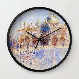 Renoir - The Piazza San Marco, Venice Wall Clock