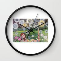 dolly parton Wall Clocks featuring DOLLY by PETRINART