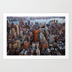 New York skyline.. Art Print