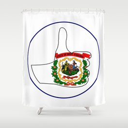 Thumbs Up West Virginia Shower Curtain