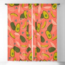 90s Style Avocado Blackout Curtain