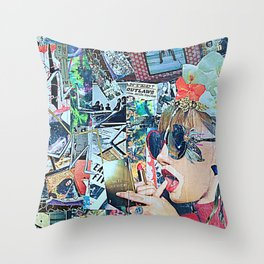 Lipstick Outlaw Throw Pillow