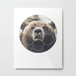 Big Bear Buddy - Geometric Photography Metal Print