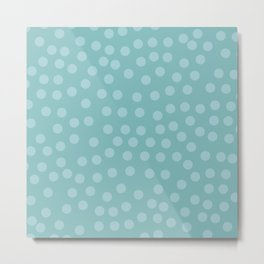 Self-love dots - Turquoise Metal Print