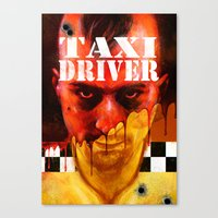 taxi driver Canvas Prints featuring Taxi Driver by ChrisNygaard