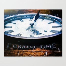 Correct Time Canvas Print