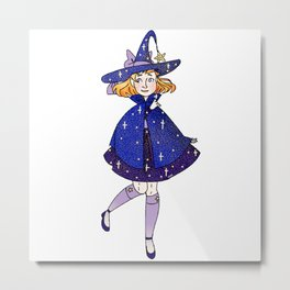 Star Witch Metal Print