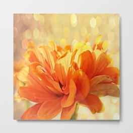 Glowing Marigold Metal Print
