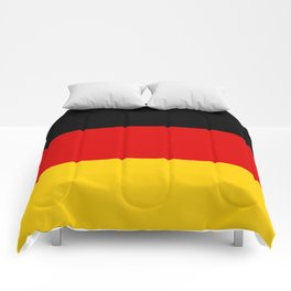 German flag - High Quality version both in scale and color Comforters