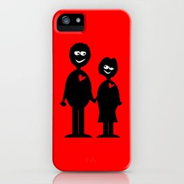 Couple Holding Hands iPhone Case