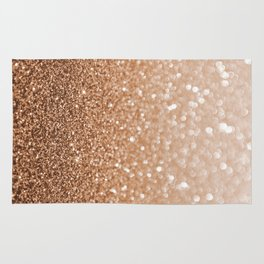 Copper Shiny Powder Texure Rug