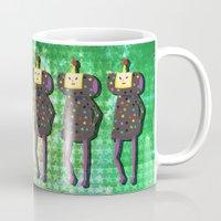 katamari Mugs featuring Katamari Cousins - Dipp by cakeisforrobots