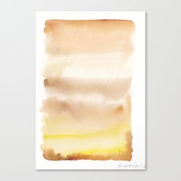 180815 Watercolor Rothko Inspired 2| Colorful Abstract | Modern Watercolor Art Canvas Print