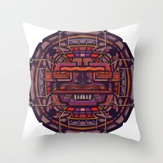 Collider mask Throw Pillow