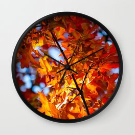 Autumn Leaves in NYC Wall Clock