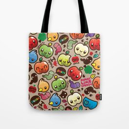 Apple Pattern Tote Bag