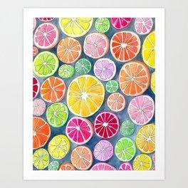 Citrus Painting Art Print
