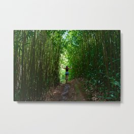 Bamboo Jungle Metal Print