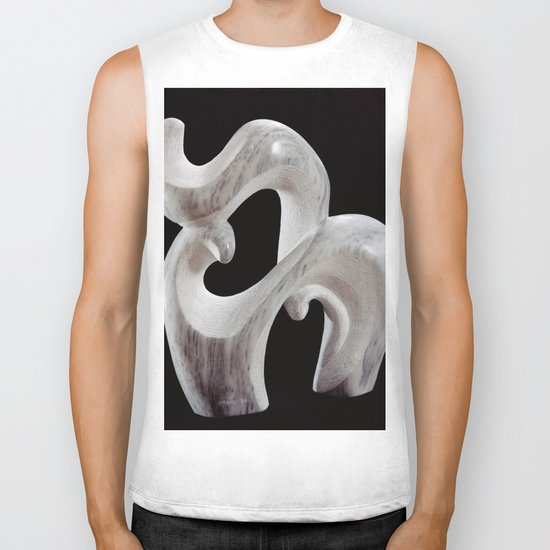 Animal and it's Cub by Shimon Drory Biker Tank