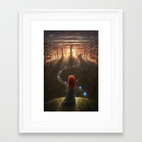brave Framed Art Prints featuring Brave by Westling