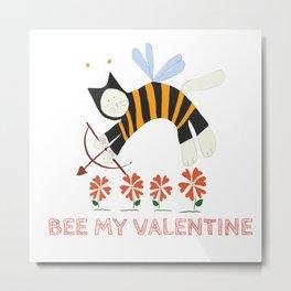 Bee my Valentine Metal Print