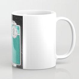 Teal retro vintage phone Coffee Mug