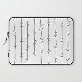 Grey, Steel: Arrows Pattern Laptop Sleeve