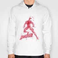 daredevil Hoodies featuring Daredevil Superhero by Carma Zoe