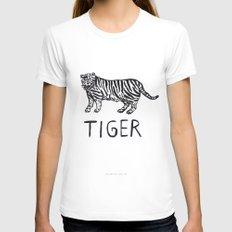 Tiger Womens Fitted Tee LARGE White