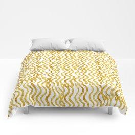 Golden Wavey Comforters
