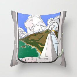 View from the window 2 Throw Pillow