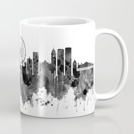 Brighton England Skyline BW Coffee Mug