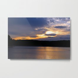 Sunset at Concord's Walden Pond 13 Metal Print