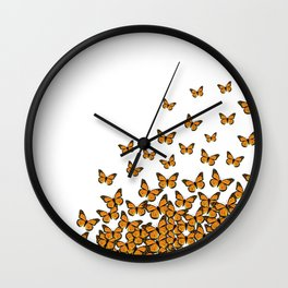 Imperial Butterfly Light Wall Clock