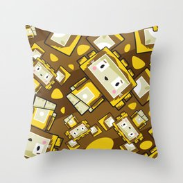 Cute Cartoon Blockimals Lion Pattern Throw Pillow