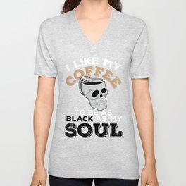 I Like My Coffee Black Like My Soul Gift Unisex V-Neck