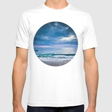 Moody Blues MEDIUM White Mens Fitted Tee
