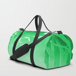 Dark Forest at Dawn in Emerald Duffle Bag