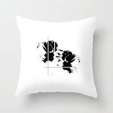 Graphic Floral Throw Pillow