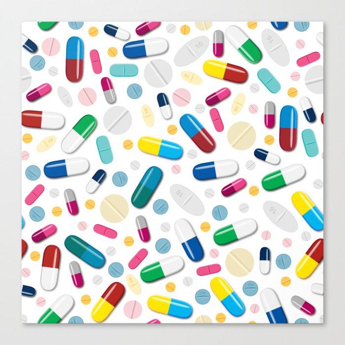 Happy Pills Leinwanddruck