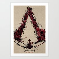 saga Art Prints featuring Assassin's Creed Saga by s2lart