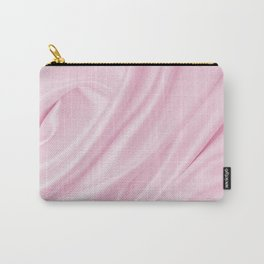 Blush Pink Silk Carry-All Pouch
