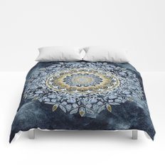 Blue Floral Mandala Comforters