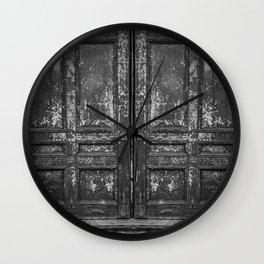 Old Doors Wall Clock