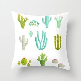 Cacti Party Throw Pillow