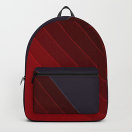 Red black abstract pattern Backpack