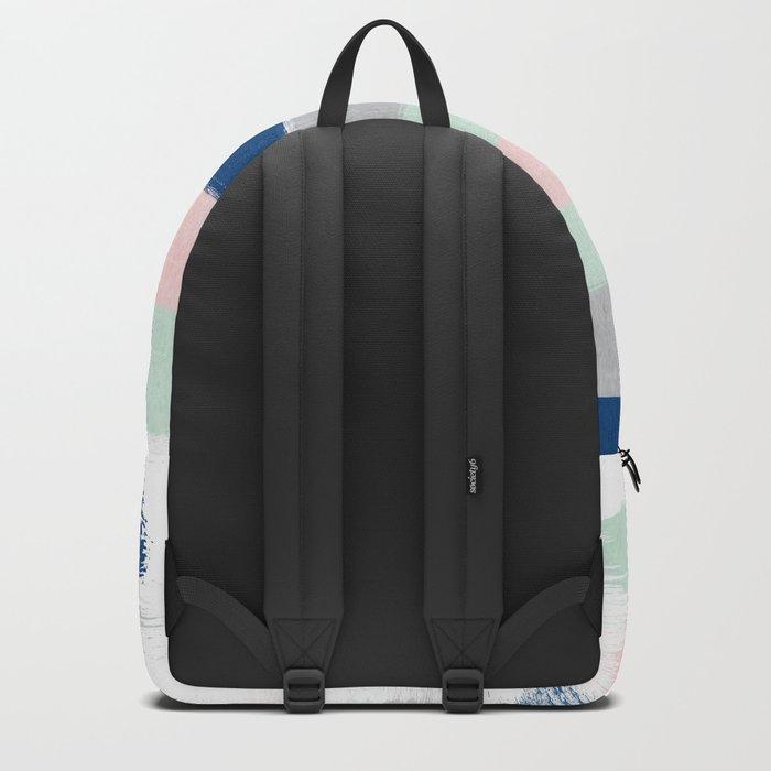 Minimal painted stripe pattern nursery decor trendy gender neutral colors Backpack