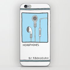 HEADPHONES Card iPhone & iPod Skin